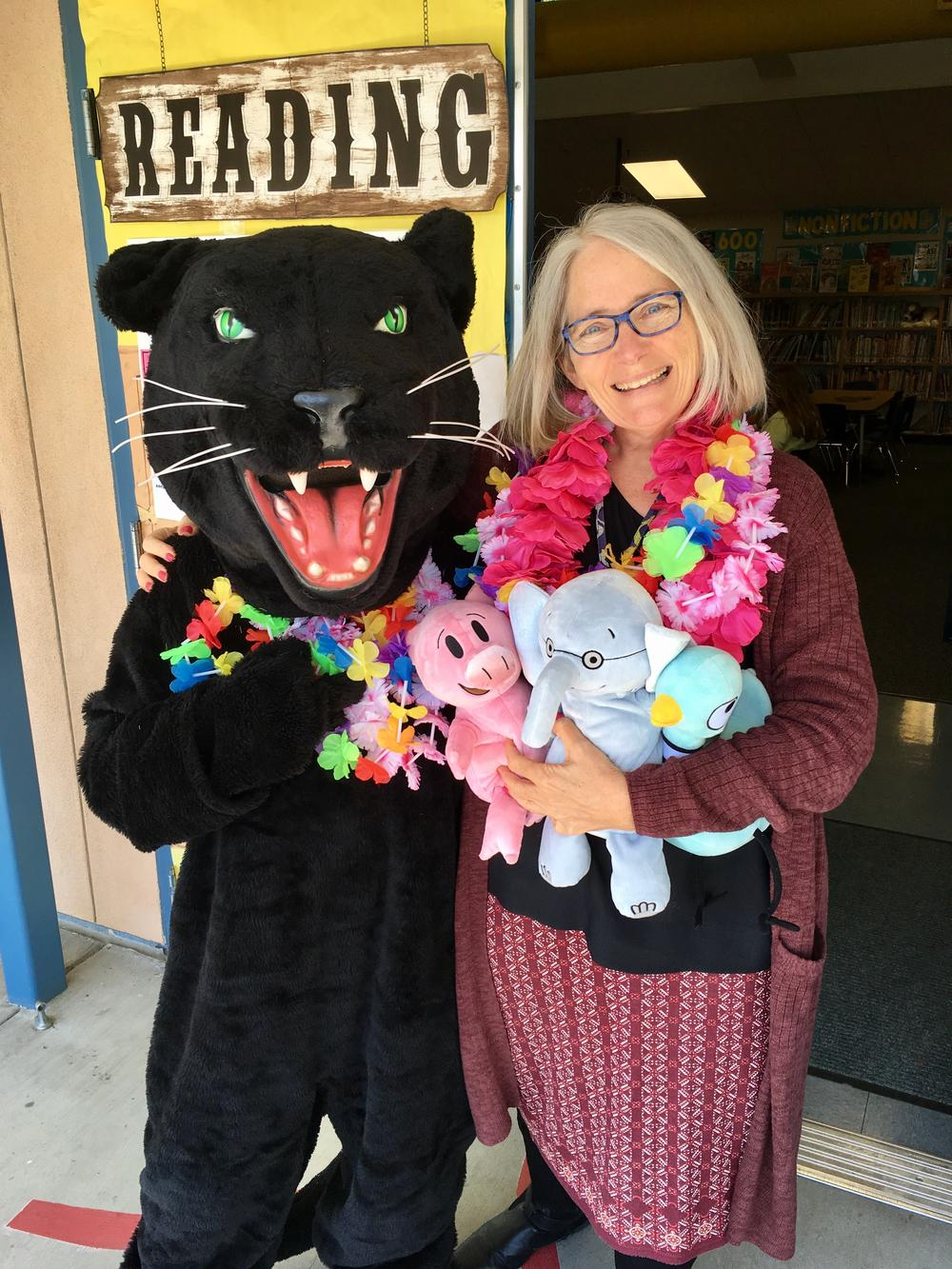 Librarian and Mascot